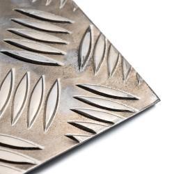 Tôle aluminium à damiers de...