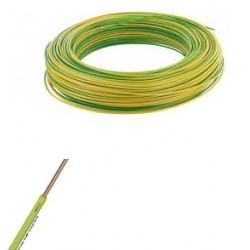 Fil ho7-vu vert jaune de 4 m/m
