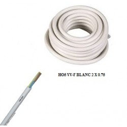 Câble ho5 vv-f blanc de 2 x...