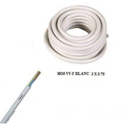 Câble ho5 vv-f blanc de 3 x...
