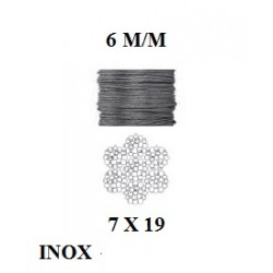 Câble souple inox  7t x 19...