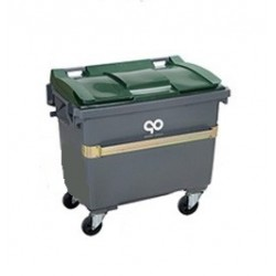 Container 4 roues 660l gris...